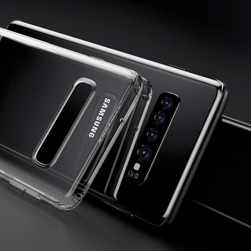 Capa Protetora Antiqueda Baseus Simplicity Series para Samsung S10 Plus
