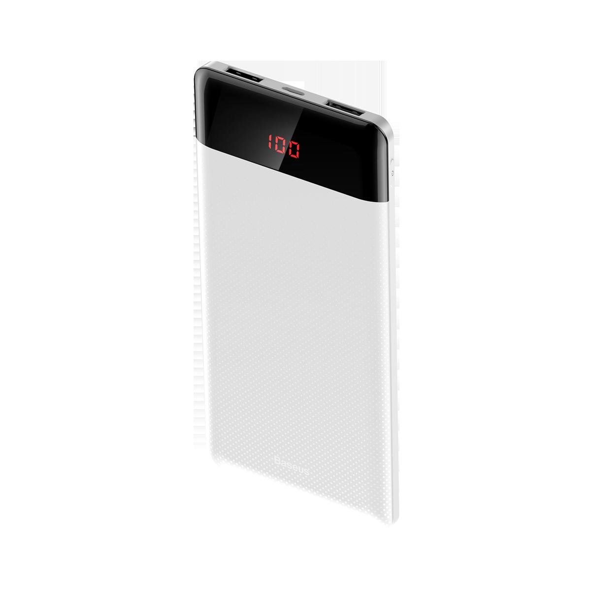 Carregador Portátil 2x USBs Baseus Mini Display 10.000 mAh