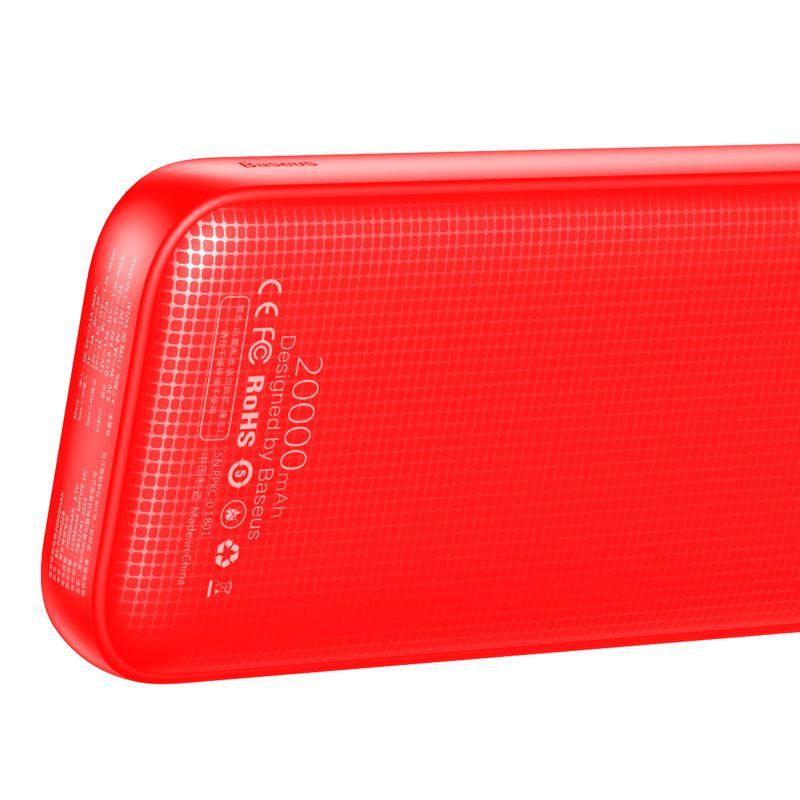 Carregador Portátil Baseus 20000 mAh QC3.0