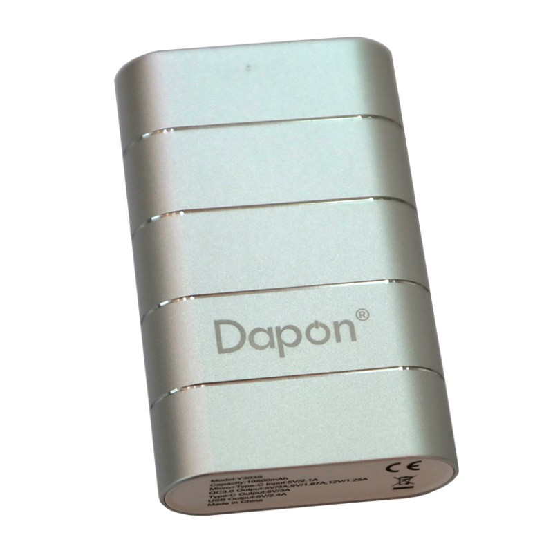 Carregador Portátil Dapon 10.500 mAh Y303S Quick Charge 3.0