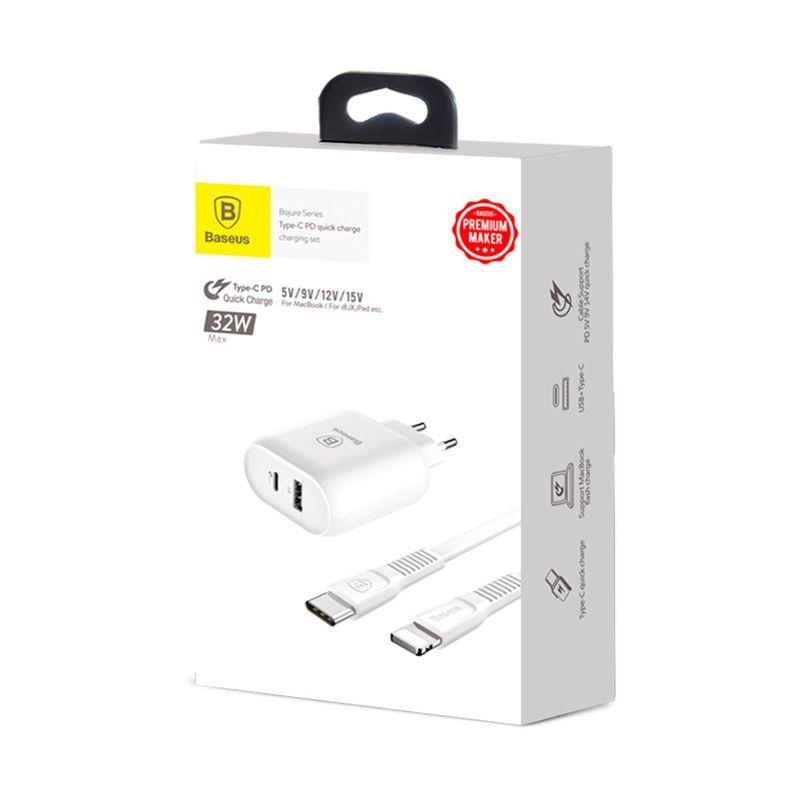 Carregador Rápido PD Type-C / USB de 32W Baseus Bojure