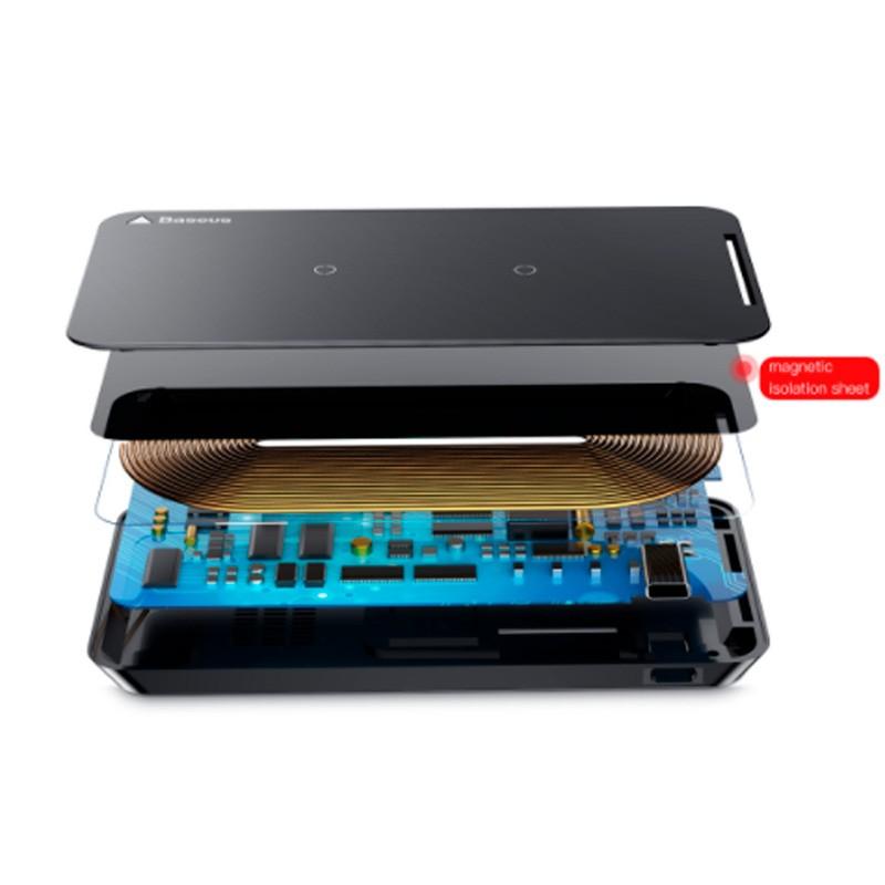 Carregador Sem Fio para iPhone 8 / X, Samsung Note 8 / S8 / S7 / S6