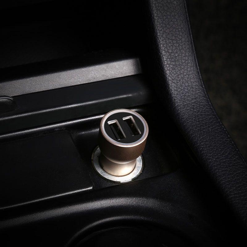Carregador Veicular de Metal USB Duplo Baseus Little Giant 3.4A
