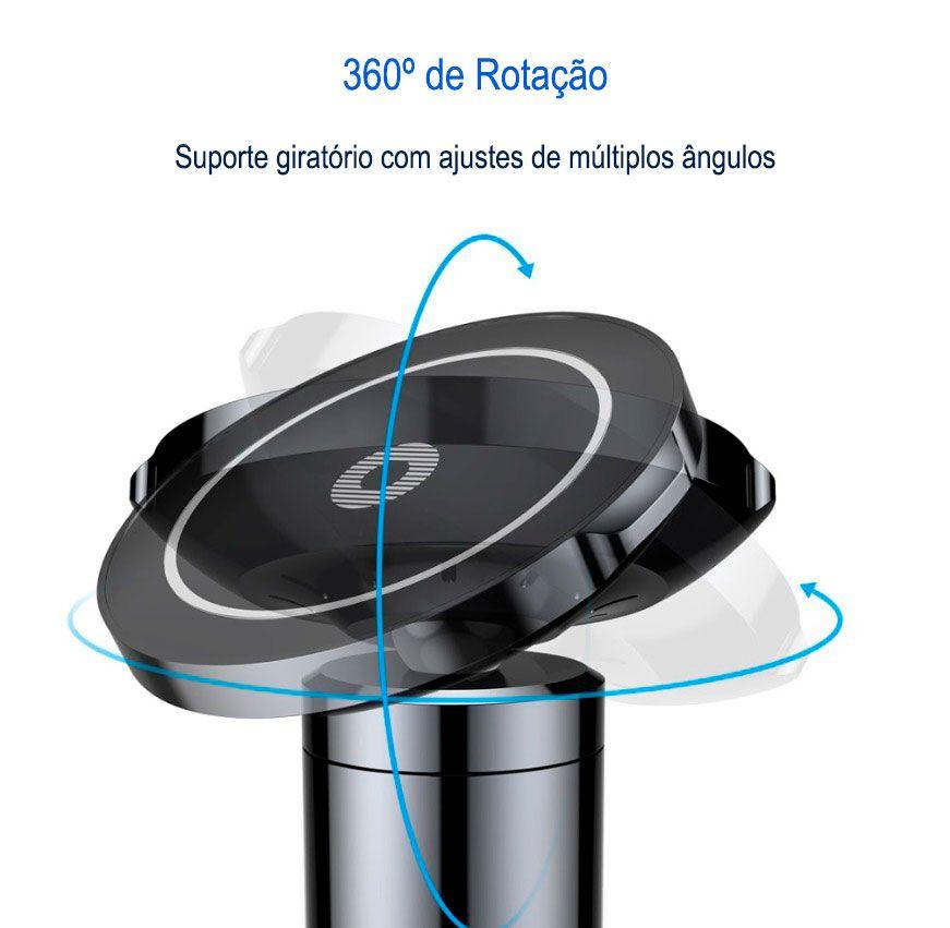 Suporte Magnético Carregador Sem Fio Baseus Big Ears
