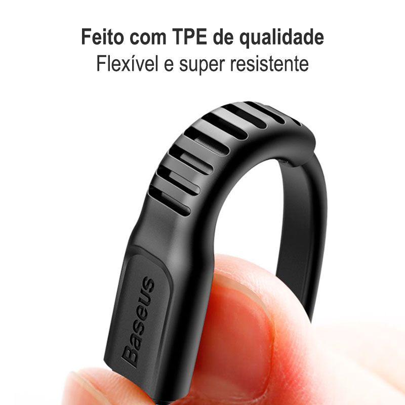 Adaptador para Carregamento Veicular Rápido PD Type-C + USB Baseus Small Screw 36W
