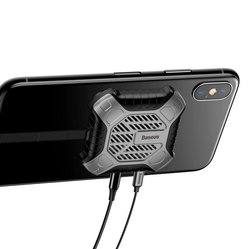 Cooler para Resfriamento do iPhone com 2 Entradas Lightning Baseus X-Men Audio Radiator