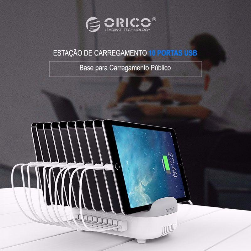 Base de Carregamento ORICO 10 x Entradas USB
