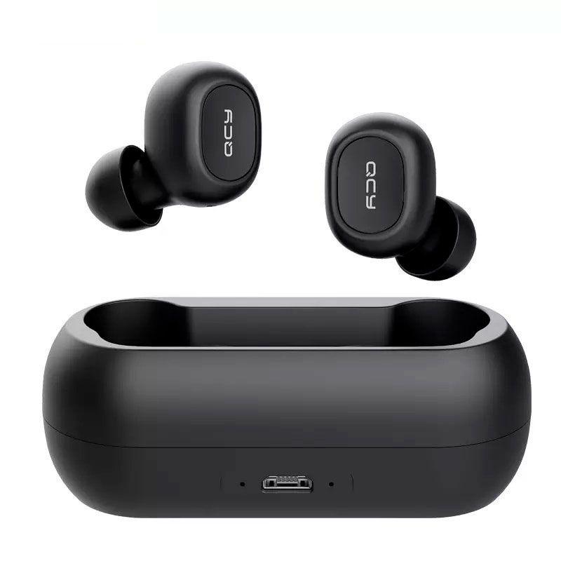 Fone de Ouvido Bluetooth 5.0 QCY T1 TWS Com Case Carregador (Sem Fios)