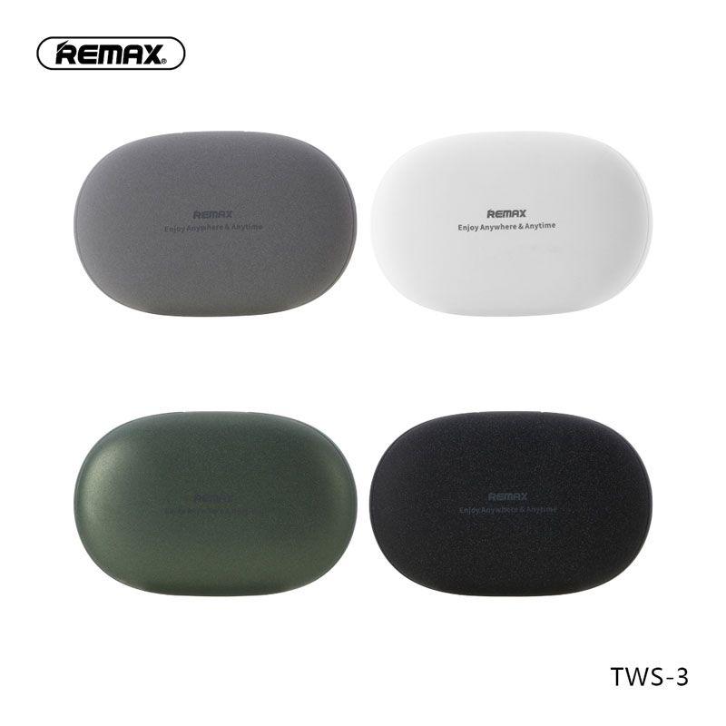 Fone de Ouvido Bluetooth 5.0 Remax TWS-3 Com Case Carregador