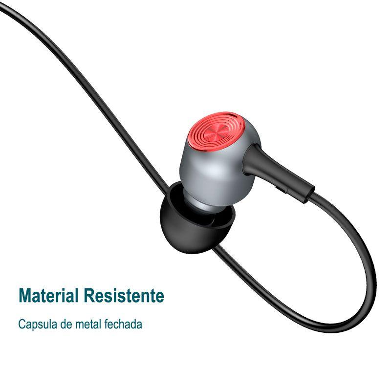 Fone de Ouvido Com Fio Baseus Encok H02