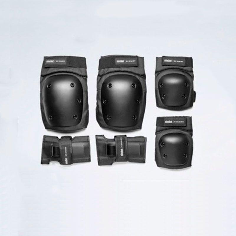 Kit Segurança: Joelheira + Cotoveleira + Protetor de Mãos
