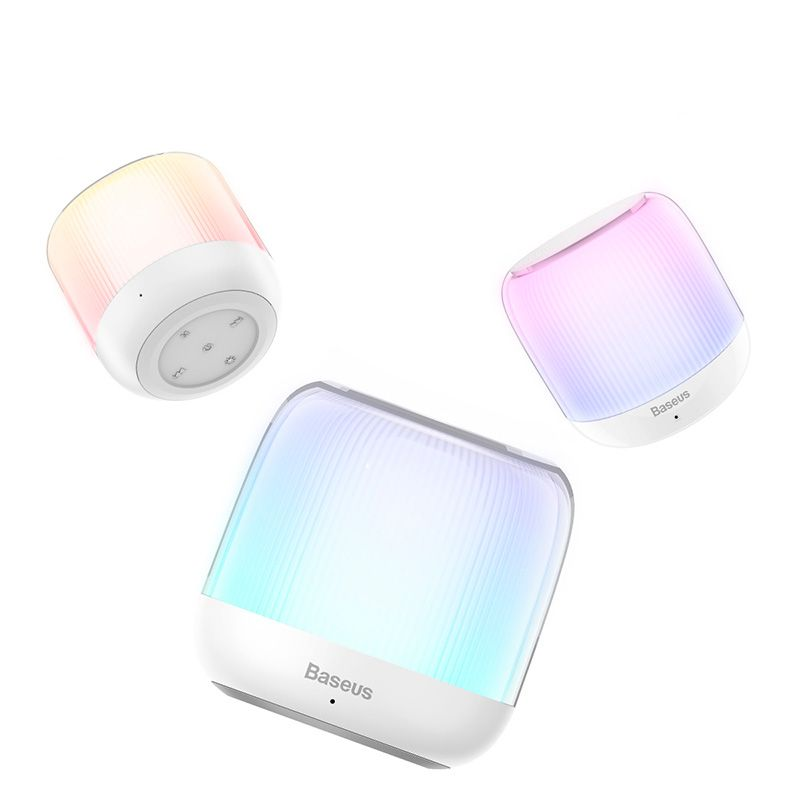 Mini Caixa de Som Bluetooth Encok E01 Com Luz de LED e Subwoofer