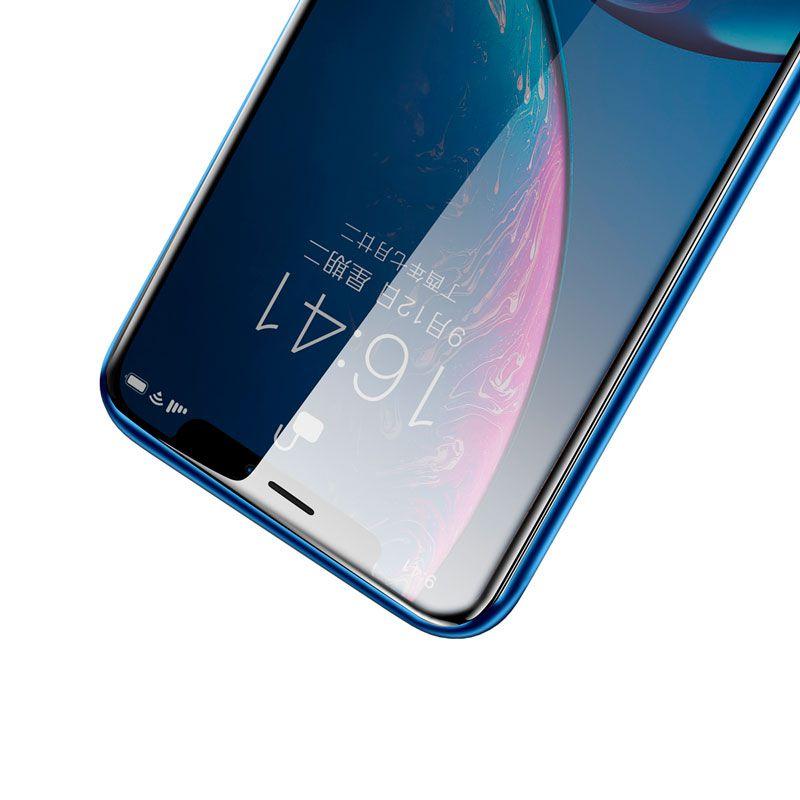 Película Protetora Curva com Função Privacidade em Vidro Temperado de 0.23mm para iPhone XR