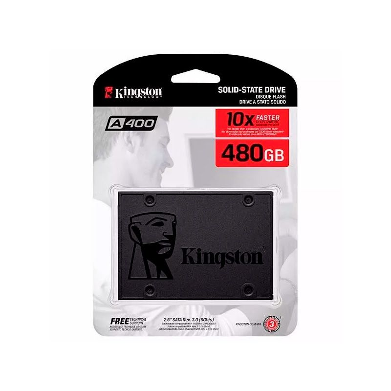 SSD Kingston 480GB SATA 3 6GB/S A400