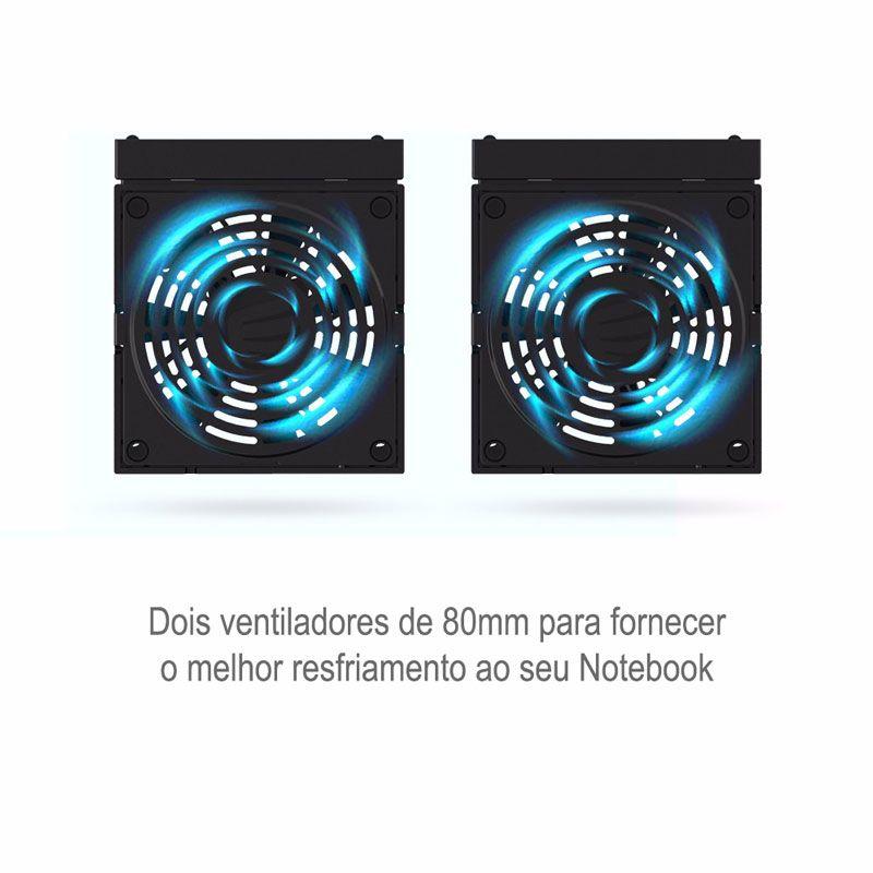 Suporte para Notebooks com Resfriamento Duplo ORICO