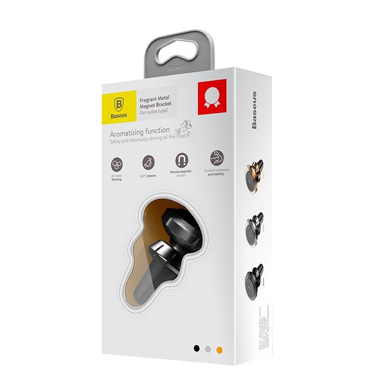 Suporte Veicular Magnético Com Aromatizador Baseus