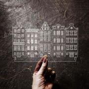 Acrílico Casas Holandesas