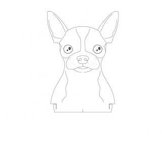 Pet - Acrílico Chihuahua