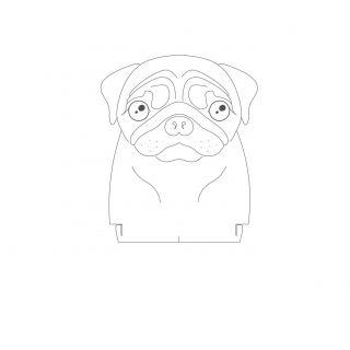 Pet - Acrílico Pug