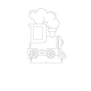 Infantil - Acrilico Trem