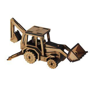 Auto - Miniatura para montar Retroescavadeira
