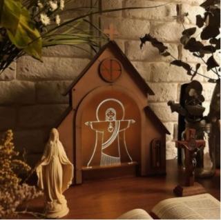 Capelinha + Luminária Cristo