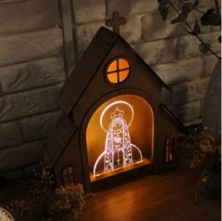 Capelinha + Luminária Imaculado Coração de Maria