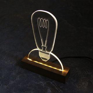 Luminária Lâmpada - Papel Craft