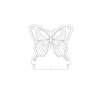 Natureza - Acrílico Borboleta