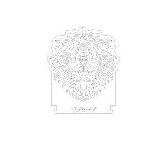 Signo - Acrílico Leão