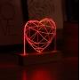 Luminária Coração Vermelho