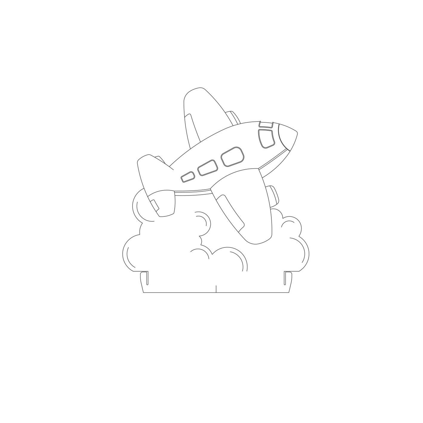 Infantil - Acrilico Avião