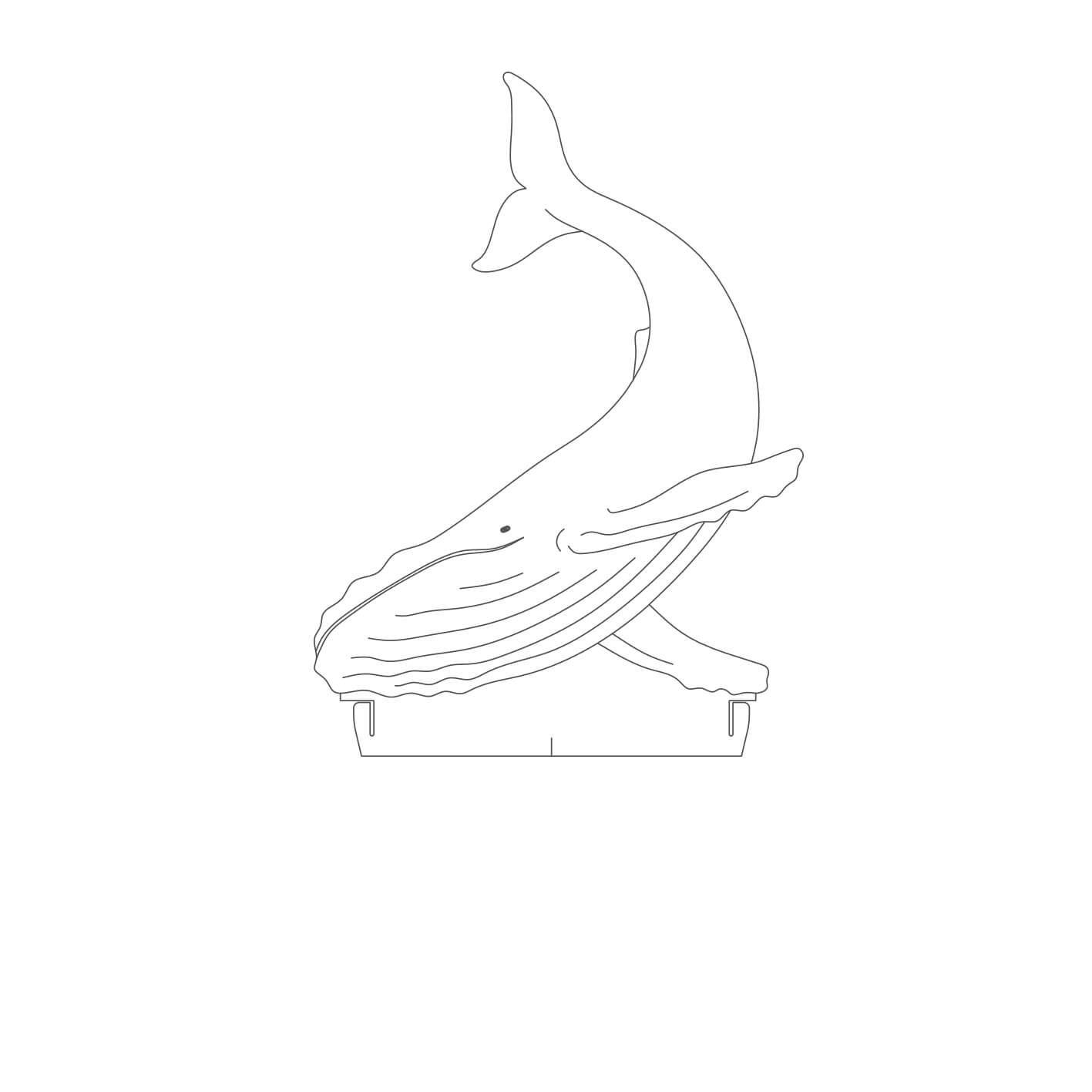 Marinhos - Acrílico Baleia