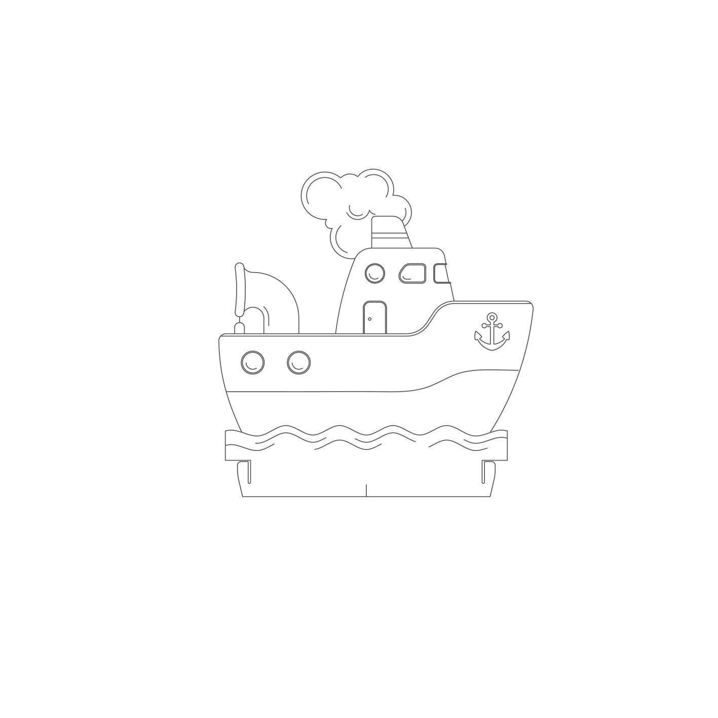 Infantil - Acrilico Barco