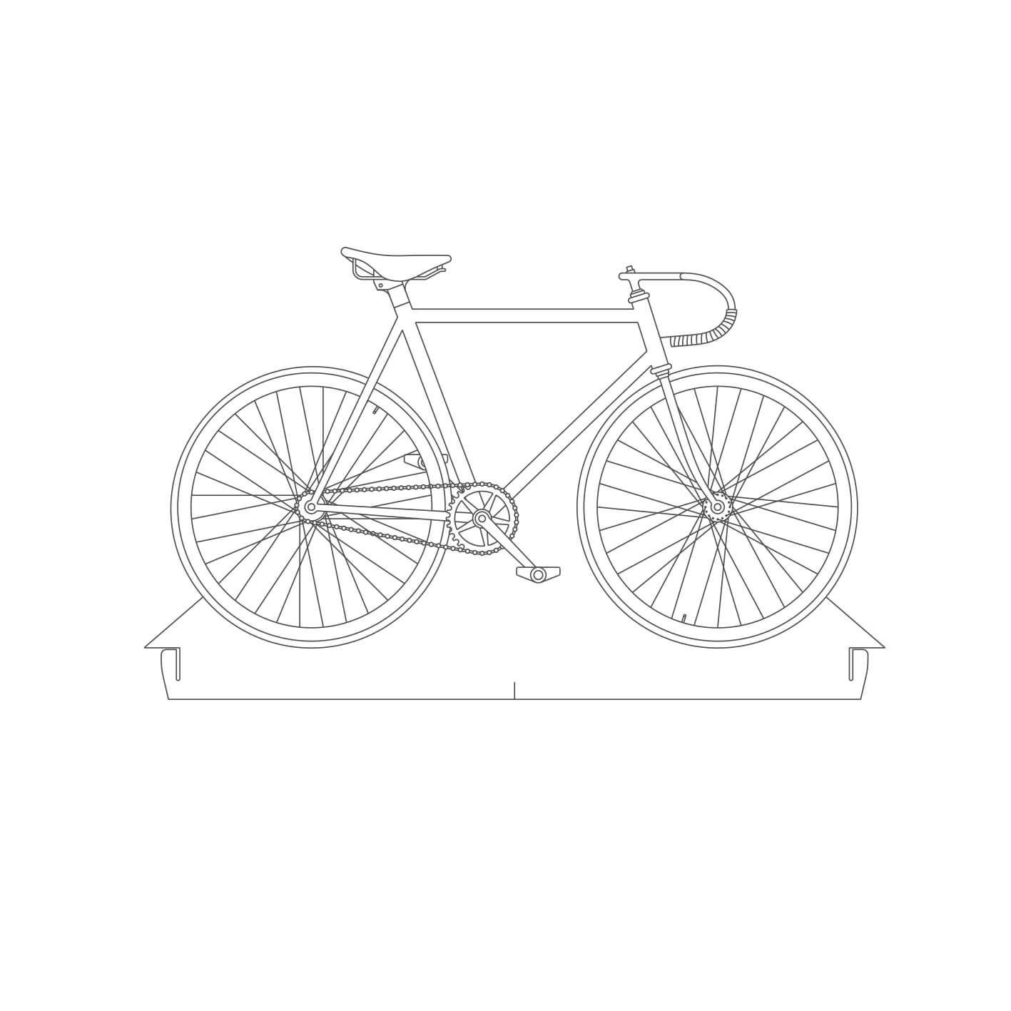 Bicicletas - Acrílico Bicicleta Fixa