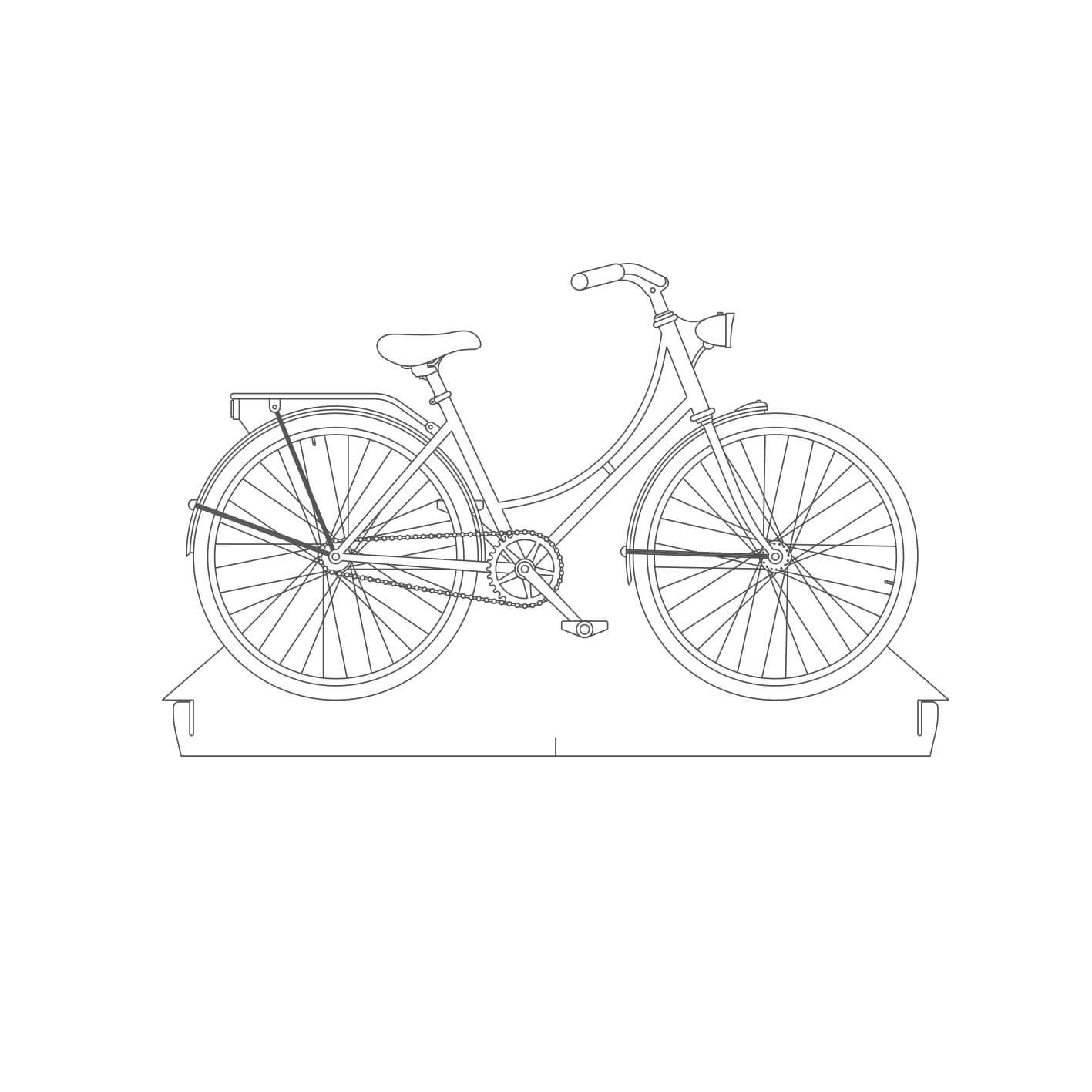Bicicletas - Acrílico Bike Holanda