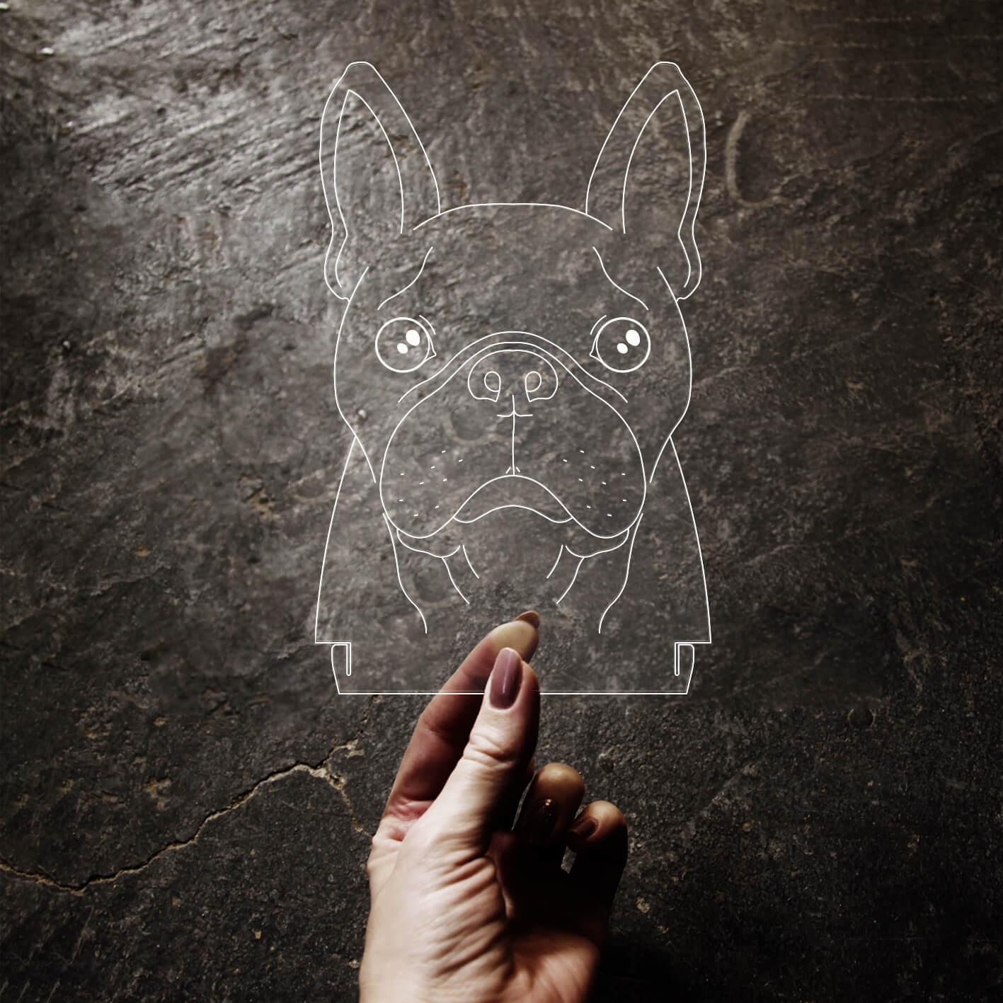 Pet - Acrílico Buldogue Francês