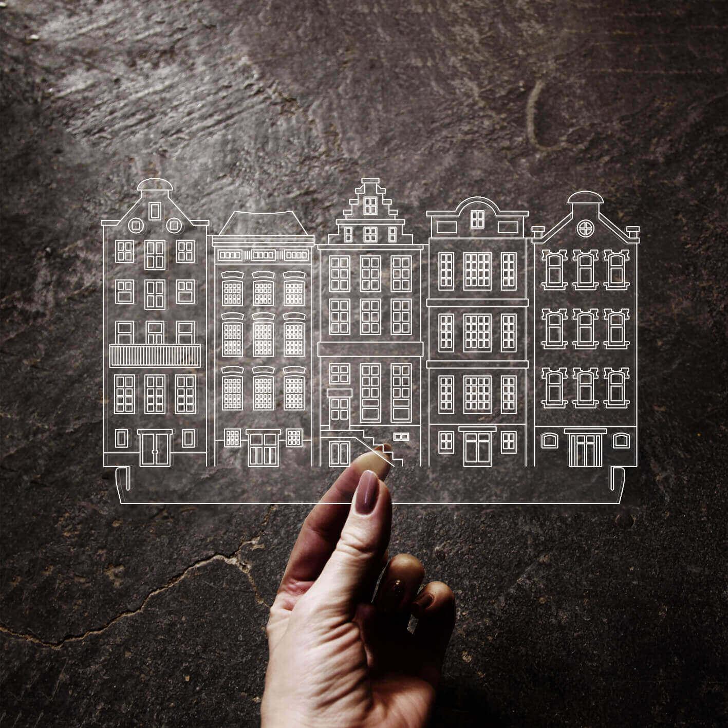 Europa - Acrílico Casas Holandesas