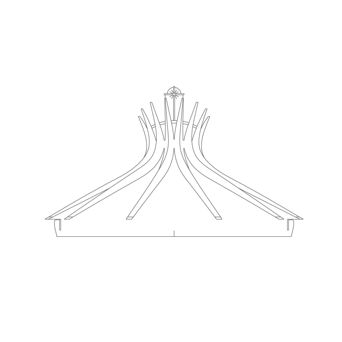 Brasilia - Acrílico Catedral