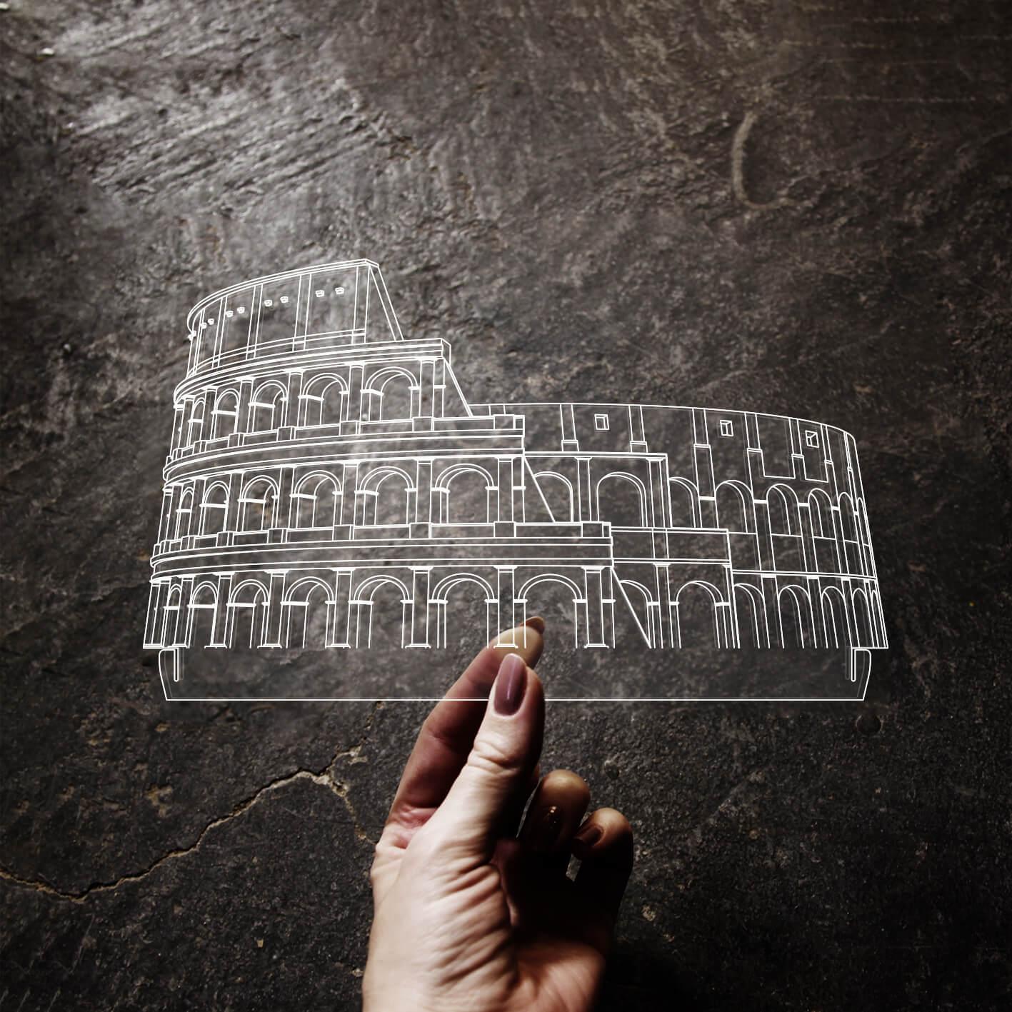 Europa - Acrílico Coliseu