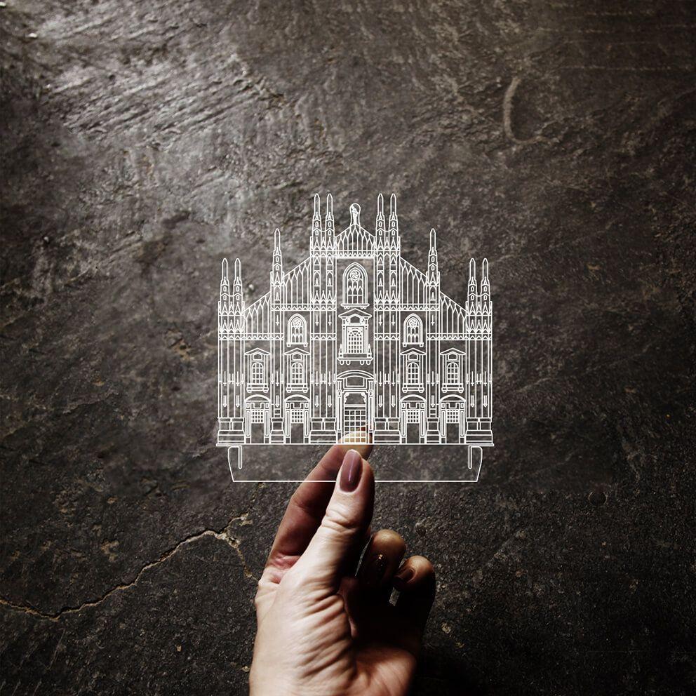 Europa - Acrílico Duomo - Milão
