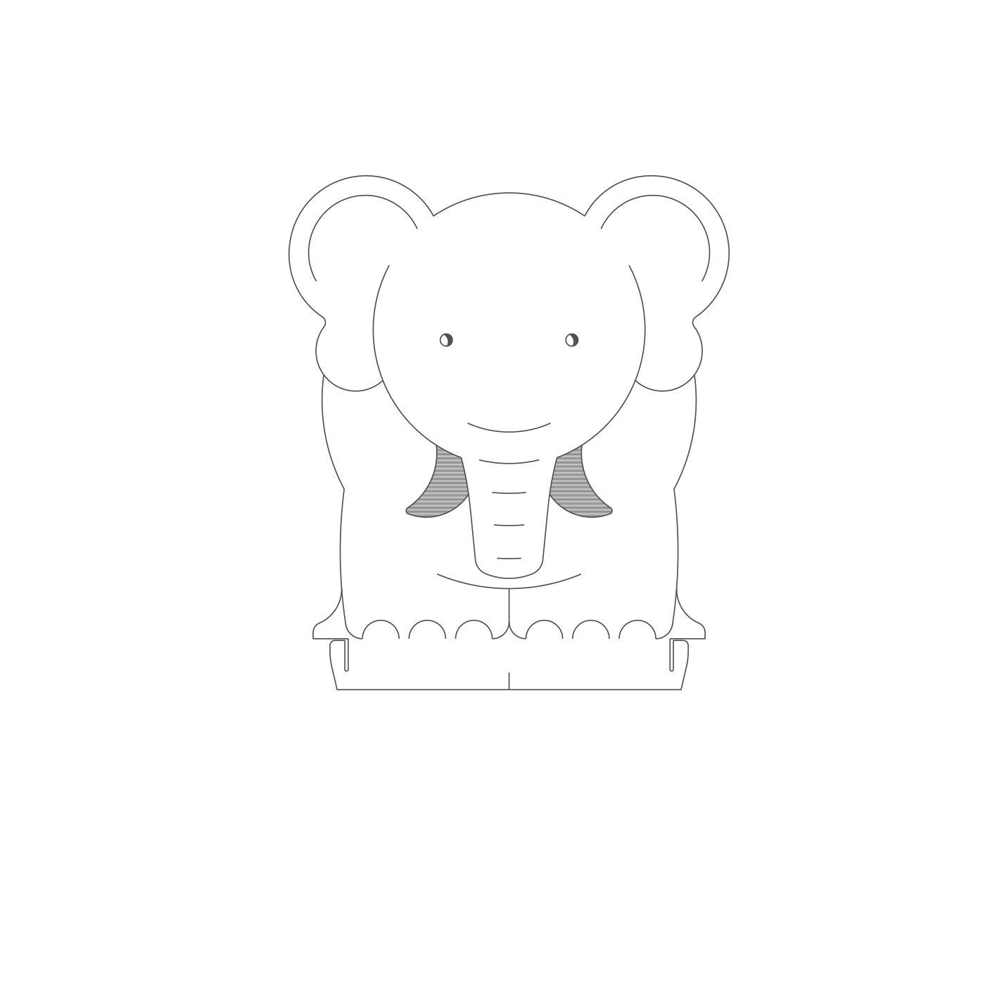 Infantil - Acrílico Elefante