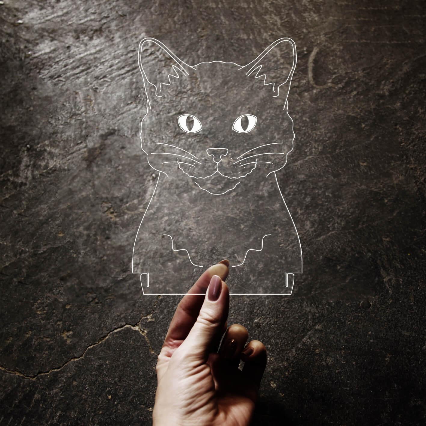 Acrílico Gato
