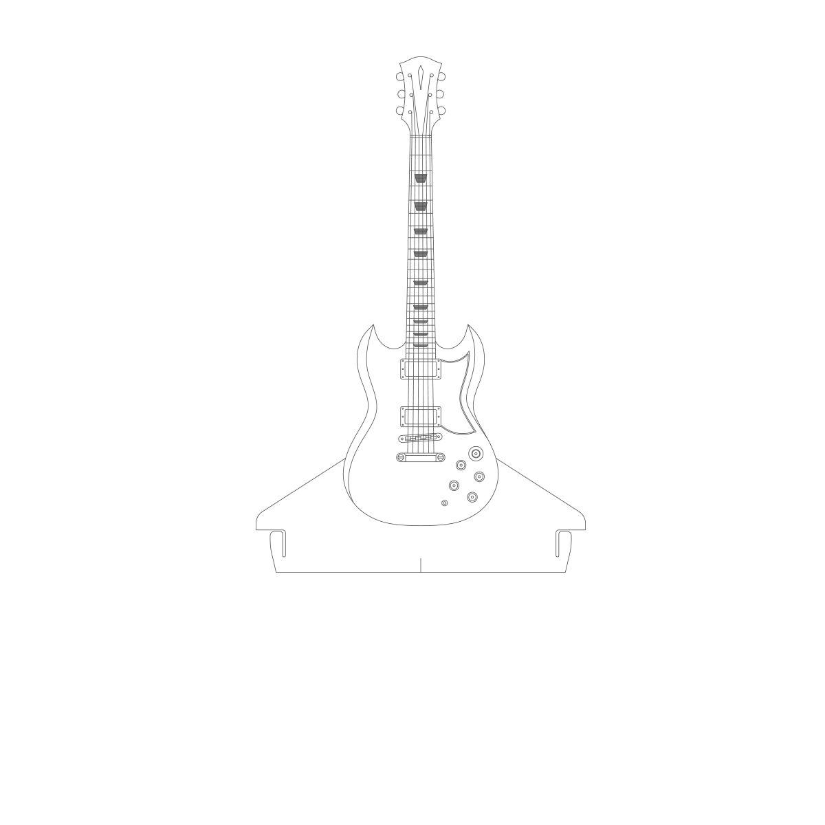 Acrílico Guitarra SG