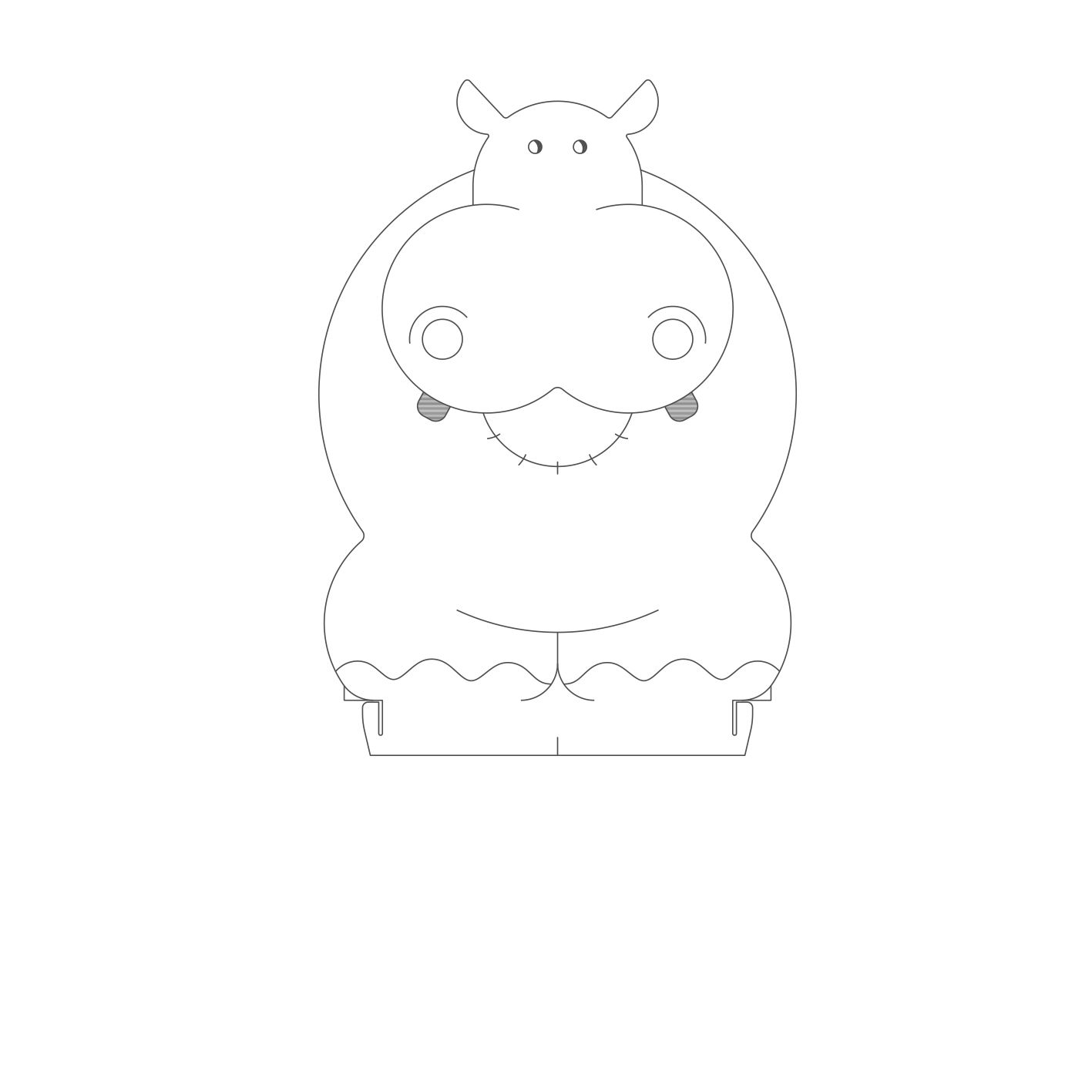 Infantil - Acrilico Hipopótamo