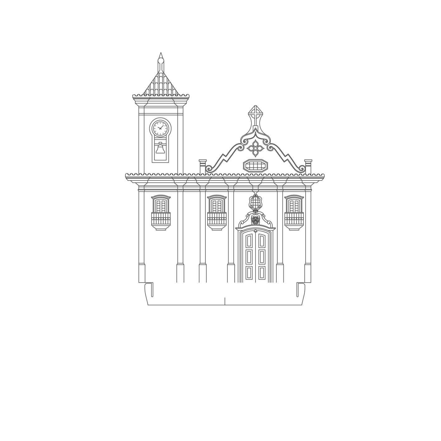 Minas Gerais - Acrílico Igreja S. Fco Assis - Diamantina