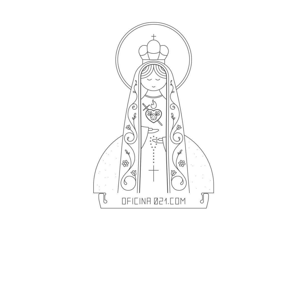 Acrílico Imaculado Coração de Maria