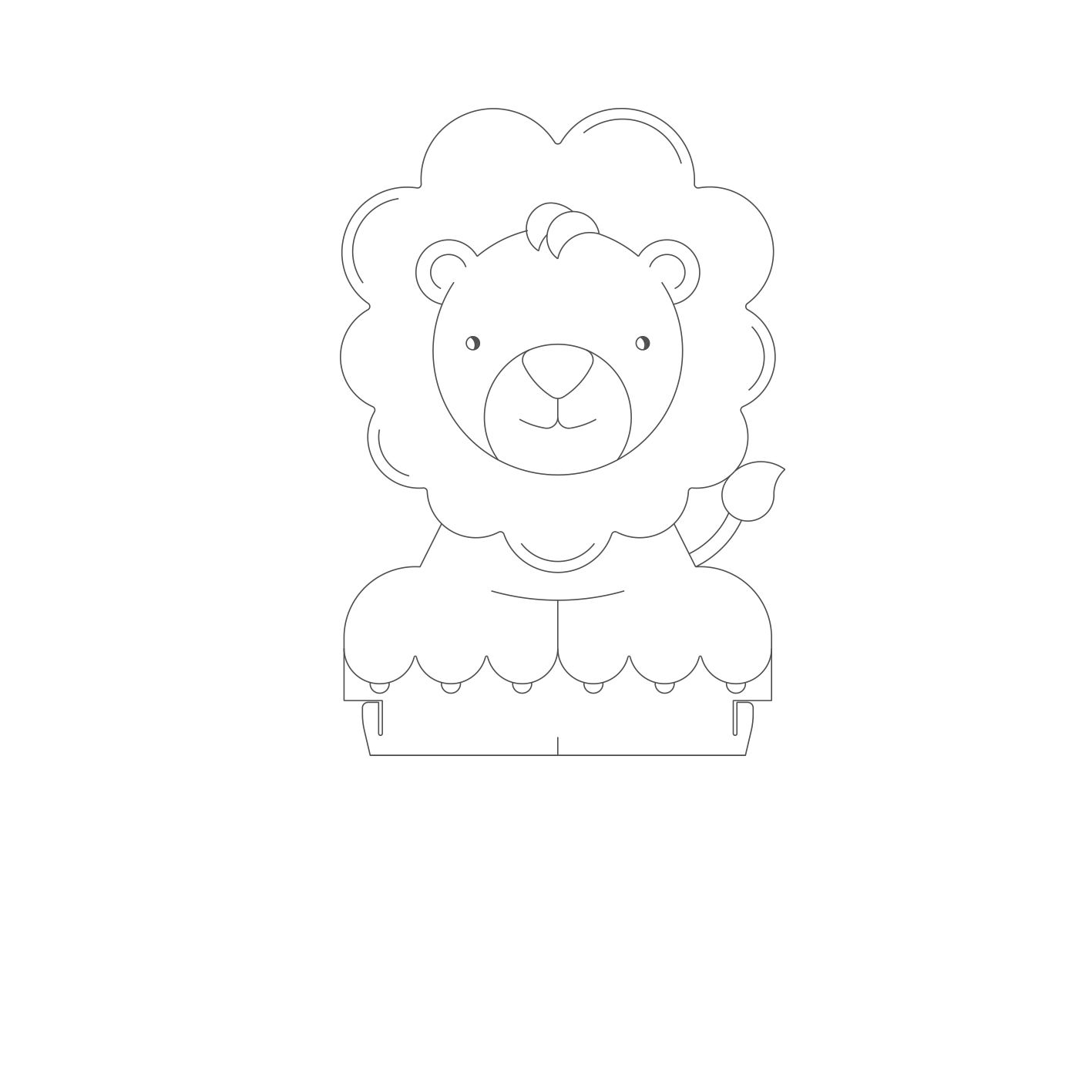 Infantil - Acrilico Leão