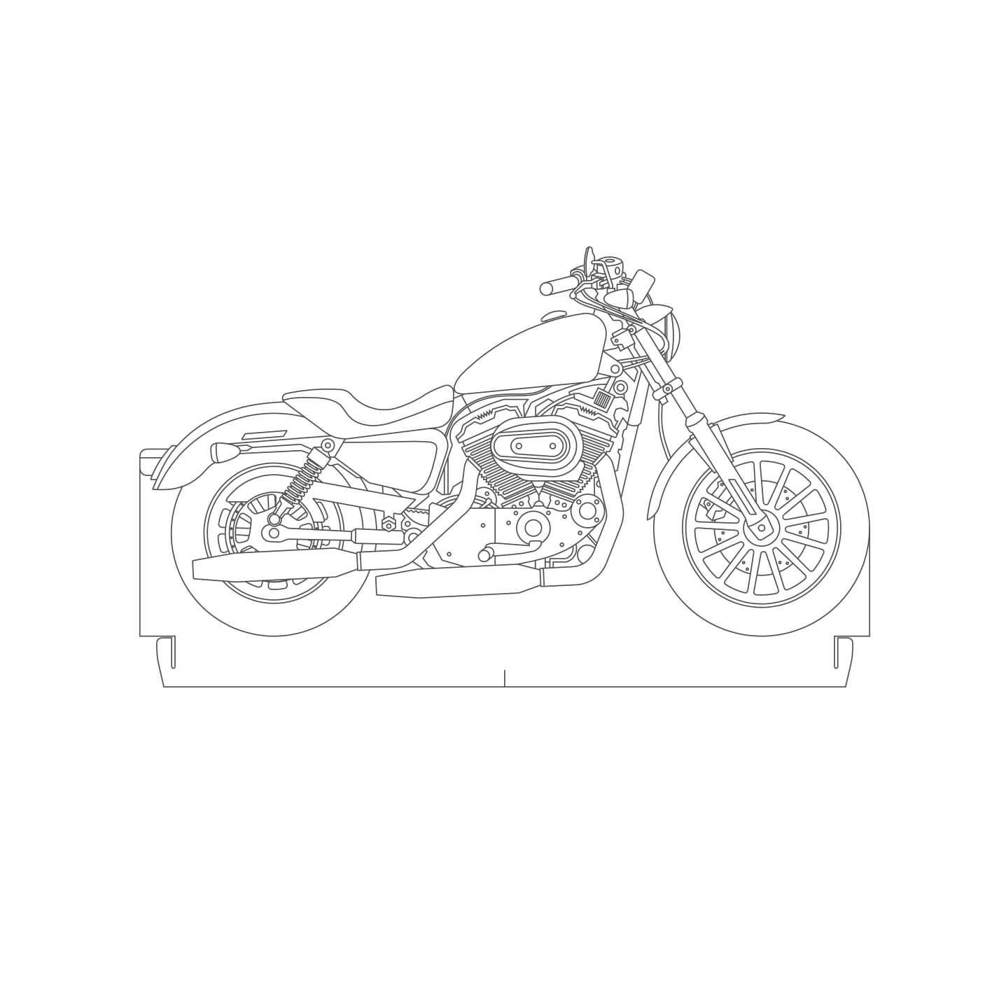 Auto - Acrílico Motocicleta