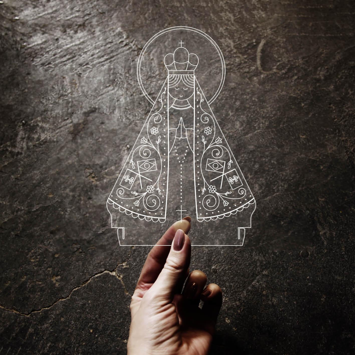 Fé - Acrílico Nossa Senhora Aparecida